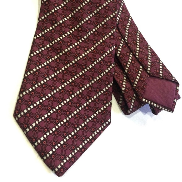 f1c468e949f1 Hermes Accessories | Tie 764 Ua Stripe Design Silk Necktie | Poshmark